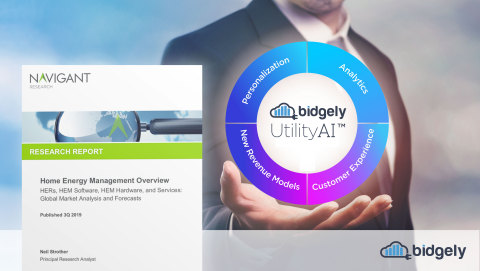 The comprehensive Bidgely UtilityAI™ platform for global utilities was recently recognized for its innovation in the Home Energy Management (HEM) market by Navigant Research's Home Energy Management Overview Q3 2019 report. (Graphic: Business Wire)