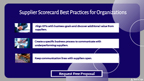 Supplier Scorecard Best Practices for Organizations.