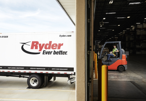 Ryder tops the charts in the highly competitive transportation management category plus puts up top marks in value-added warehousing and distribution solutions, as voted by Logistics Management readers. (Photo: Business Wire)