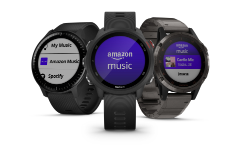 Amazon Music is now available on Garmin smartwatches (Photo: Business Wire)