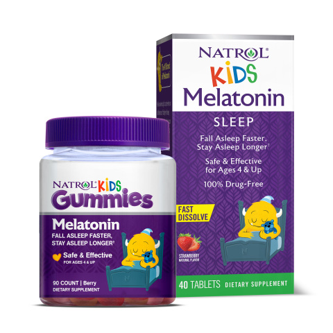 New Natrol Kids Melatonin products are specially formulated for children to help them fall asleep faster and stay asleep longer. (Photo: Business Wire)