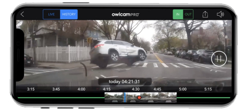 The Owlcam Pro App was specially designed to deliver the video safety and security features small businesses need, including the ability to view vehicle location with driver confirmation, receive alerts when damage, break-ins and accidents are detected, and check in with Live View real-time video from anywhere with the option to view video history. (Photo: Business Wire)