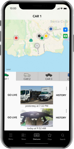 Owlcam Pro supports up to seven vehicles that drive up to 100,000 miles a year and includes a mobile app that lets business owners manage and view their fleet from their phone. (Photo: Business Wire)