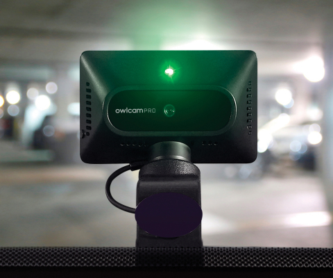 Owlcam Pro helps keep drivers safe with voice controls that enable hands-free video recording and Owlcam 911 Assist™, which connects a live operator to the Owlcam Pro to ask the driver if emergency services are needed. (Photo: Business Wire)