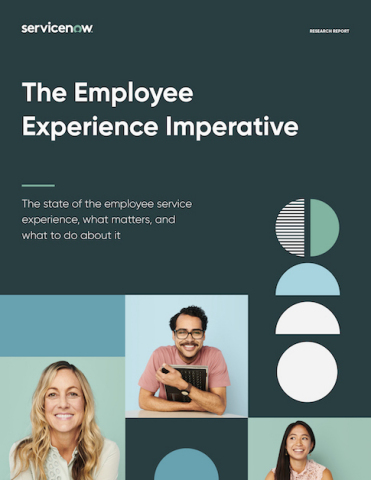 """New Global Research by ServiceNow - """"The Employee Experience Imperative"""" - Finds That a Great Employee Service Experience is Key to an Engaged and Productive Workforce (Graphic: Business Wire)"""