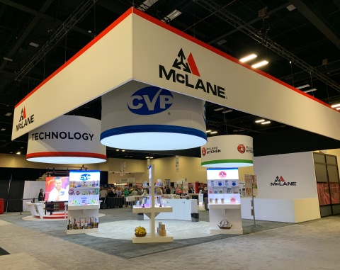 The 2019 McLane National Trade Show booth featuring CVP, Technology and McLane Kitchen. (Photo: Business Wire)