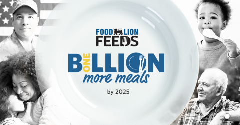 Food Lion Feeds commits to donate 1 billion more meals in 2025 (Photo: Business Wire)