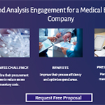 Spend Analysis Engagement for a Medical Equipment Company.