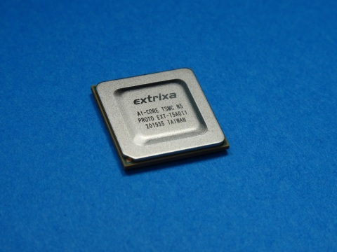 Picture of Mechanical Sample for 5nm Deep Learning AI Processor (Photo: Business Wire)