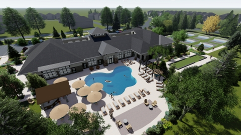 The Prairie Club, Bellwether by Del Webb's 11,500-square-foot amenity center, is scheduled to open summer of 2020. (Photo: Business Wire)