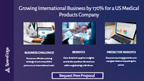 Growing International Business by 170% for a US Medical Products Company.