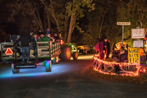 Haunted hayrides are one of many Halloween and fall activities families enjoy at Yogi Bear's Jellystone Park Camp-Resorts in the U.S. and Canada. (Photo: Business Wire)