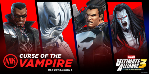 In MARVEL ULTIMATE ALLIANCE 3: The Black Order, players will step into the boots of the urban vigilantes known as Punisher, Blade, Moon Knight and Morbius, as the Marvel Knights join the alliance. (Graphic: Business Wire)