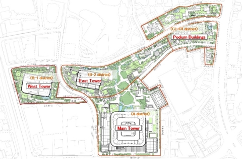 Site Plan of Toranomon-Azabudai Project (Graphic: Business Wire)