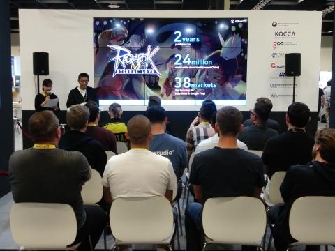 Gravity Interactive, Inc., una filial de Gravity Co., Ltd. (NASDAQ: GRVY) empresa líder de juegos en el mundo, participó en Gamescon, una de las 3 ferias de juegos más grandes del mundo en Colonia (Alemania). En esta feria, Gravity anunció que está planeando el lanzamiento de «Ragnarok M: Eternal Love»  en la región europea el 4 de septiembre de 2019. «Ragnarok M: Eternal Love» se lanzará en Rusia y Turquía, así como en Europa, y estará disponible en siete idiomas, incluyendo inglés, portugués, español, ruso, alemán, francés y turco. (Fotografía: Business Wire)