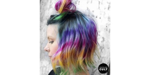 Half-Up Baby Bun Back to School Hairstyle. Hair Color credit: @msnataliejean