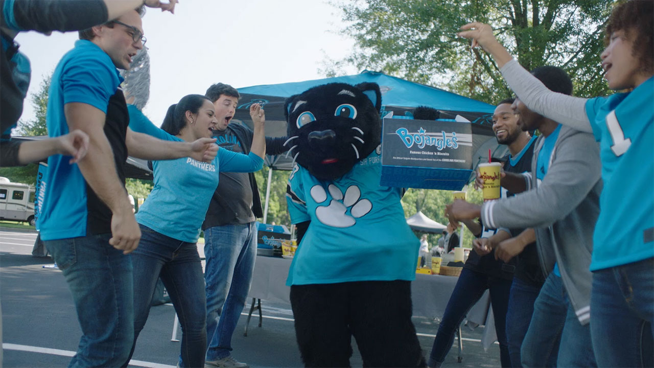 Bojangles' celebrates the Carolina Panthers' 25th season with a newly designed, commemorative Big Bo Box.