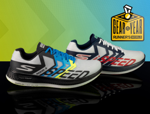 "Skechers GO RUN Razor 3 Hyper™ named ""Gear of the Year"" by Runner's World editors in September/October 2019 issue. (Photo: Business Wire)"