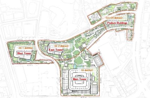 Site Plan of Toranomon-Azabudai Project (Graphic: Business Wire)