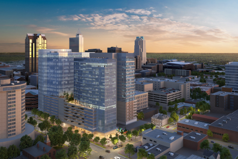 Rendering for The Fallon Company's new mixed-use development in downtown Raleigh, Raleigh Crossing (Photo: Business Wire)