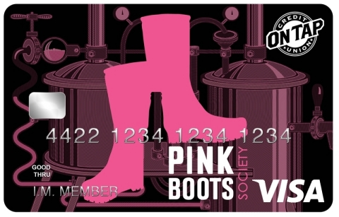 Pink Boots Society card design. (Photo: Business Wire)