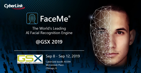 CyberLink to showcase FaceMe® AI Facial Recognition Engine at Global Security Exchange (Graphic: Business Wire)