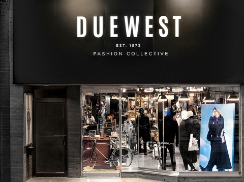 Toronto fashion destination Due West, uses Alipay and WeChat Pay consumer power, to continue to drive revenue, along with a variety of specialty and local Canadian Merchants who are looking to expand their reach and grow their revenue share (Photo: Business Wire)