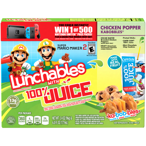 Starting on Sept. 1 and running through Nov. 30, Nintendo is partnering with LUNCHABLES to bring some of its most recognizable video game characters to select LUNCHABLES packages. (Photo: Business Wire)
