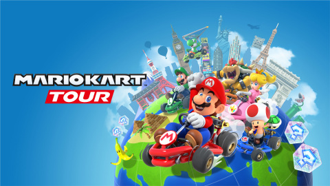 On Sept. 25, Mario Kart Tour, Nintendo's newest game designed for iOS and Android devices, boosts out of the starting gate and into the palms of players' hands around the world. This new Mario Kart game goes beyond Rainbow Road, with special city courses that let players race through courses inspired by actual locations like New York, Tokyo and Paris. (Photo: Business Wire)