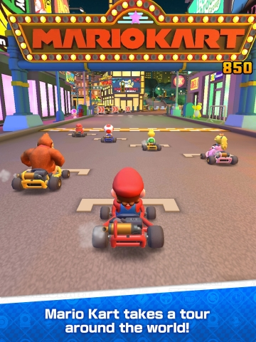 In Mario Kart Tour, players can experience the endless racing fun of Mario Kart while collecting drivers, like Mario, as well as karts and gliders. Players can choose which drivers, karts and gliders to use in races across a variety of courses, including new takes on classic courses and special city courses. (Photo: Business Wire)