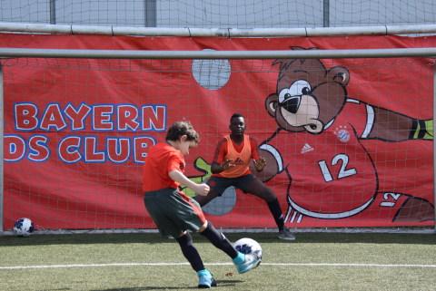 Spiel und Spaß beim FC Bayern Kids Club Fußball-Camp in Graz im Frühjahr 2019 Copyright: FC Bayern Kids Club (Photo: Business Wire)