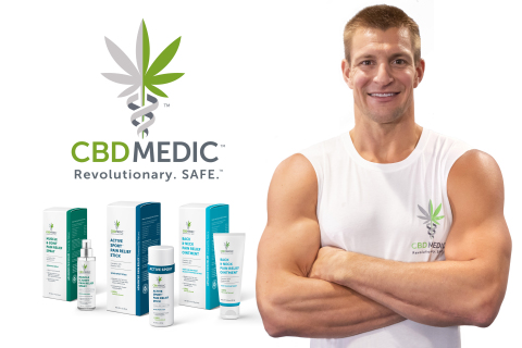 Image: Rob Gronkowski, CBDMEDICTM (Source: Abacus Health Products Inc.)