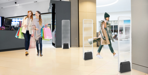 Sensormatic Essentials RF anti-theft detection systems feature a sleek modern design to complement any store setting. (Photo: Business Wire).