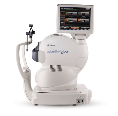 The new Maestro2 from Topcon is a fully automated OCT/Fundus Camera with OCT Angiography & Data Management! (Photo: Business Wire)