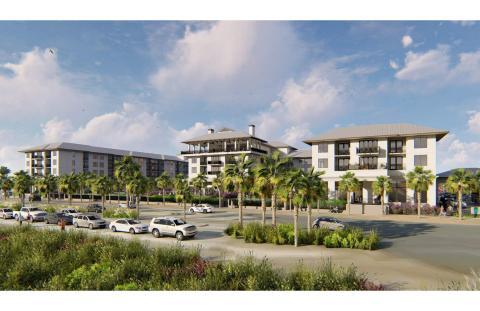 Artist rendering of the planned Embassy Suites Hotel in Panama City Beach, Florida (Photo: Business Wire)