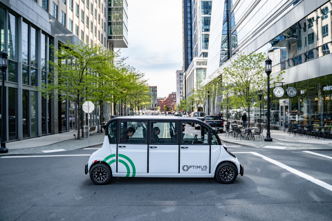 Using Velodyne lidar sensors, Optimus Ride will soon be operating its self-driving systems in four U.S. states. (Photo: Business Wire)