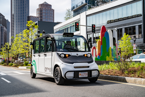 Velodyne sensors provide rich computer perception data to Optimus Ride self-driving vehicles that enables safe navigation and reliable operation. (Photo: Business Wire)