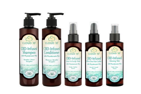 Cloud 10 CBD-Infused Hair Care (Photo: Business Wire)