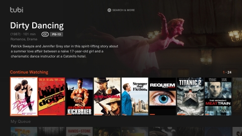 Tubi launches largest premium ad-supported video on demand service in Australia on September 1. (Graphic: Business Wire)