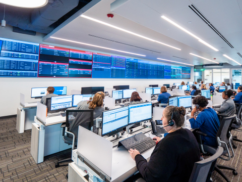 AdventHealth's new Mission Control Command Center in Orlando, Florida. (Photo: Business Wire)