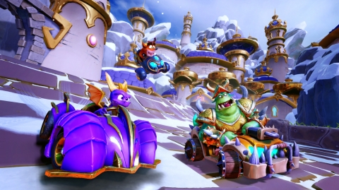 Worlds collide, when Spyro makes his Crash™ Team Racing Nitro-Fueled debut on the tracks in the highly anticipated third season of the Grand Prix, Spyro & Friends, arriving this Friday, August 30th to fans worldwide! (Photo: Business Wire)