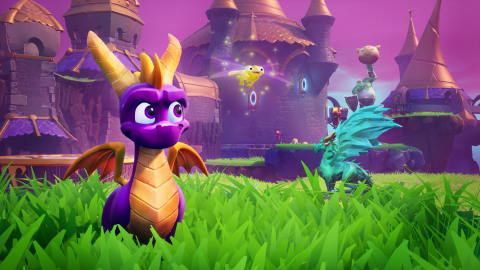 Spyro Reignited Trilogy is firing up on new platforms this year. The beloved purple dragon is headed to Nintendo Switch and PC via Steam starting Sept. 3. In the Lofty Castle level of Spyro™ the Dragon, fans will get their hands on exhilarating and striking gameplay. (Photo: Business Wire)