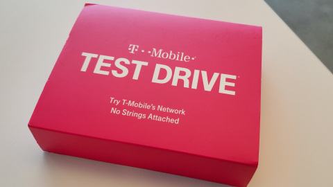 Why can't you try before you buy? At T-Mobile you can. Try the network free on any carrier's phone, and see how the Un-carrier's newest, most powerful signal — 600 MHz — goes farther than ever before. (Photo: Business Wire)