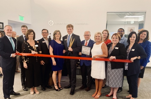 Acorn Growth Companies, a private equity firm investing exclusively in aerospace, defense and intelligence, recently celebrated the opening of its new Oklahoma City World Headquarters with a ribbon cutting and open house. (Photo: Business Wire)