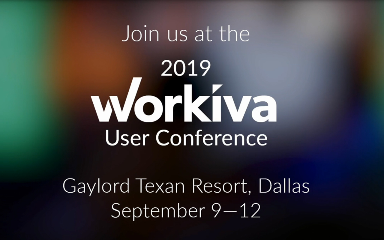 Workiva Announces 50 Customer and Partner Speakers and More Than 80 Sessions for Eighth Annual User Conference