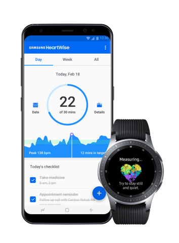 Samsung HeartWise Application (Photo: Business Wire)