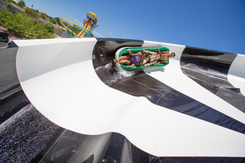 Python Plunge will be the first of its kind in the region, featuring 500 feet of partially enclosed tubes, multiple swirling discs, and adrenaline-pumping drops. (Courtesy: Six Flags White Water)