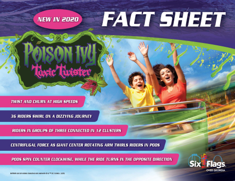 (Fact Sheet) Poison Ivy Toxic Twister features a wicked twist on a family classic. (Photo: Six Flags)