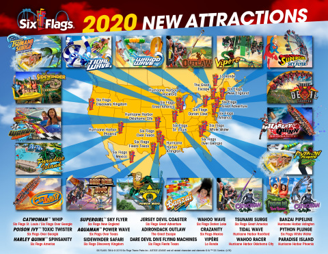 Six Flags Announces Exciting Lineup of Innovative Coasters, High-Tech Waterslides and Immersive Family Attractions Coming to Parks in 2020. (Photo: Business Wire)