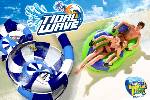 Tidal Wave features a swirling descent from 43 feet above the ground. (Graphic: Business Wire)